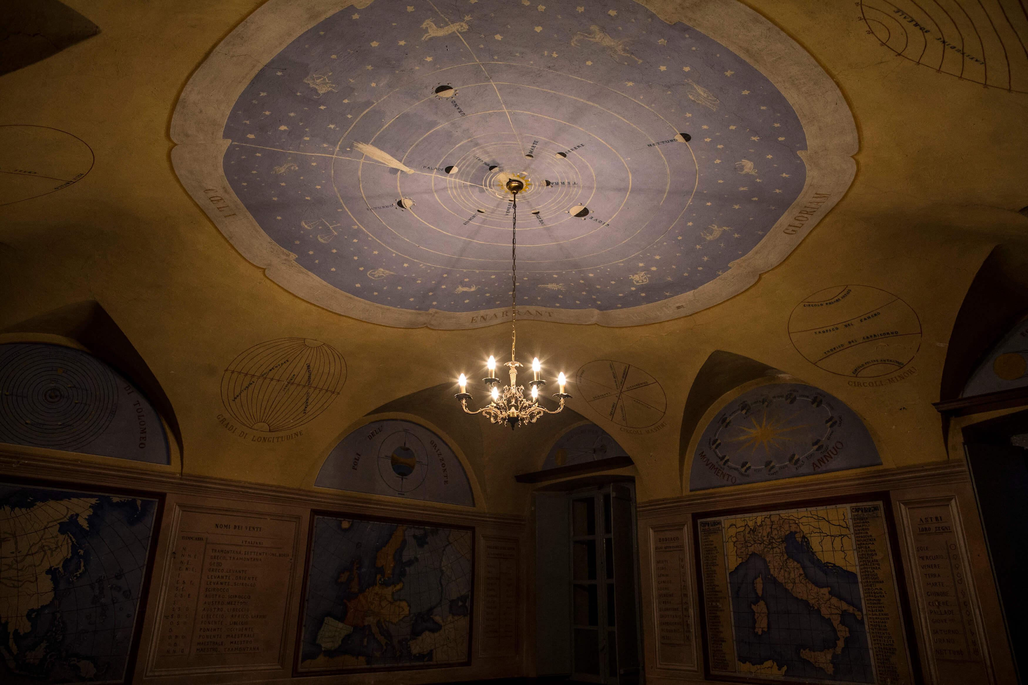 Seminario - Soffitto con segni zodiacali